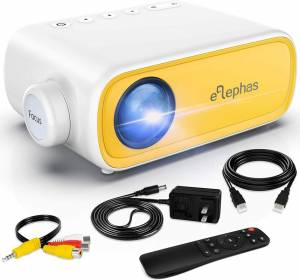 Mini Projector, ELEPHAS Portable - Kids Friendly And Portable