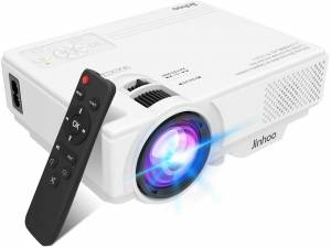 "2021 Latest Projector, Mini - 5500 Brightness, 1080P Supported, And 176"" Display"
