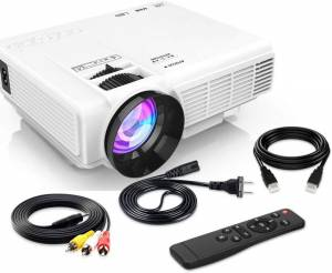 4500Lumens Mini Projector – Inexpensive, Large Size Projection, Money-back Guarantee