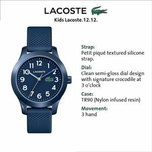 Lacoste Kids' TR90 Quartz Watch - Classic Look, Great For Learning