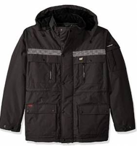 Caterpillar Heavy Men's Insulated Parka - Multi-functional, Reflective Webbing, And Versatile