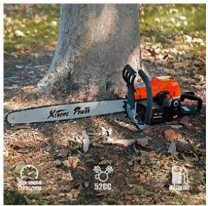 XtremepowerUS 2.7HP Gasoline Chainsaw - 20 Inches, EPA Certified Two-Stroke Engine
