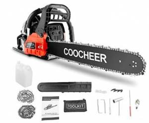 COOCHEER Chainsaw, 62CC 2 Stroke - Safe To Use, Versatile, And High Quality