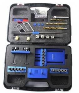 SINOCMP Dowelling Jig Kit – Precision Woodworking, Blue Aluminium Alloy Dowel
