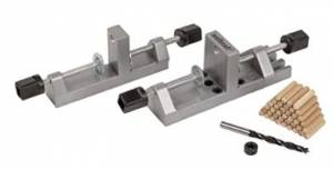 Wolfcraft 3751405 Dowel Pro – Dowelling Jig Kit With Hardened Steel Brushing
